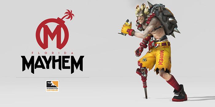 Overwatch League Florida Mayhem Logo und Junkrat