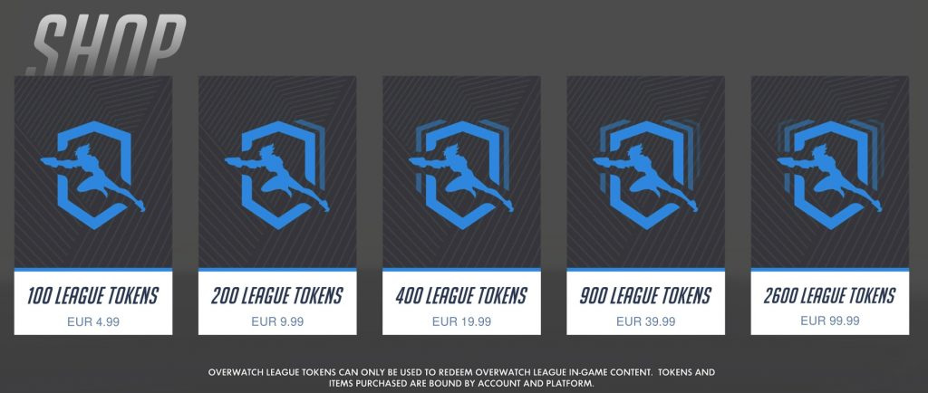 Overwatch League Skins Prices