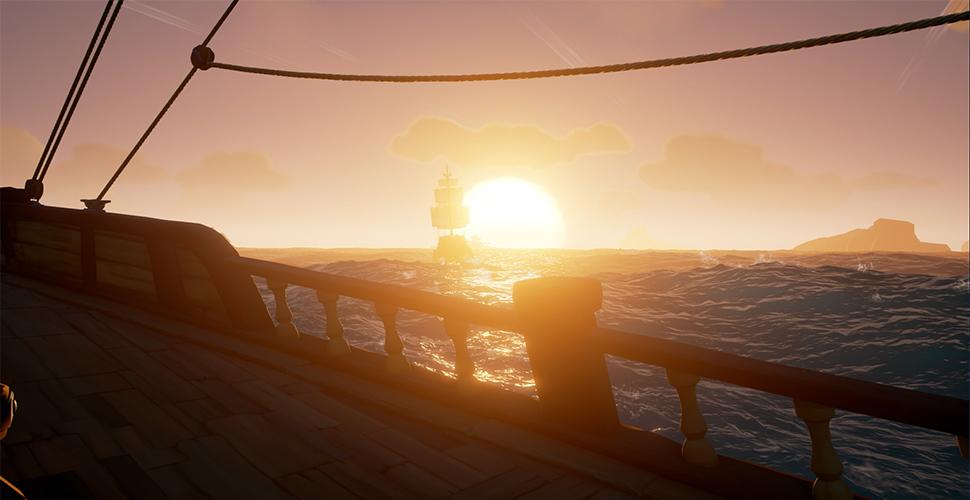 Sea of Thieves Sonnenuntergang
