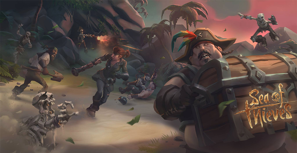 Sea of Thieves Titel Kiste Skelette