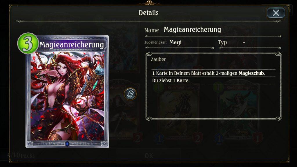 Shadowverse Card Magieanreicherung