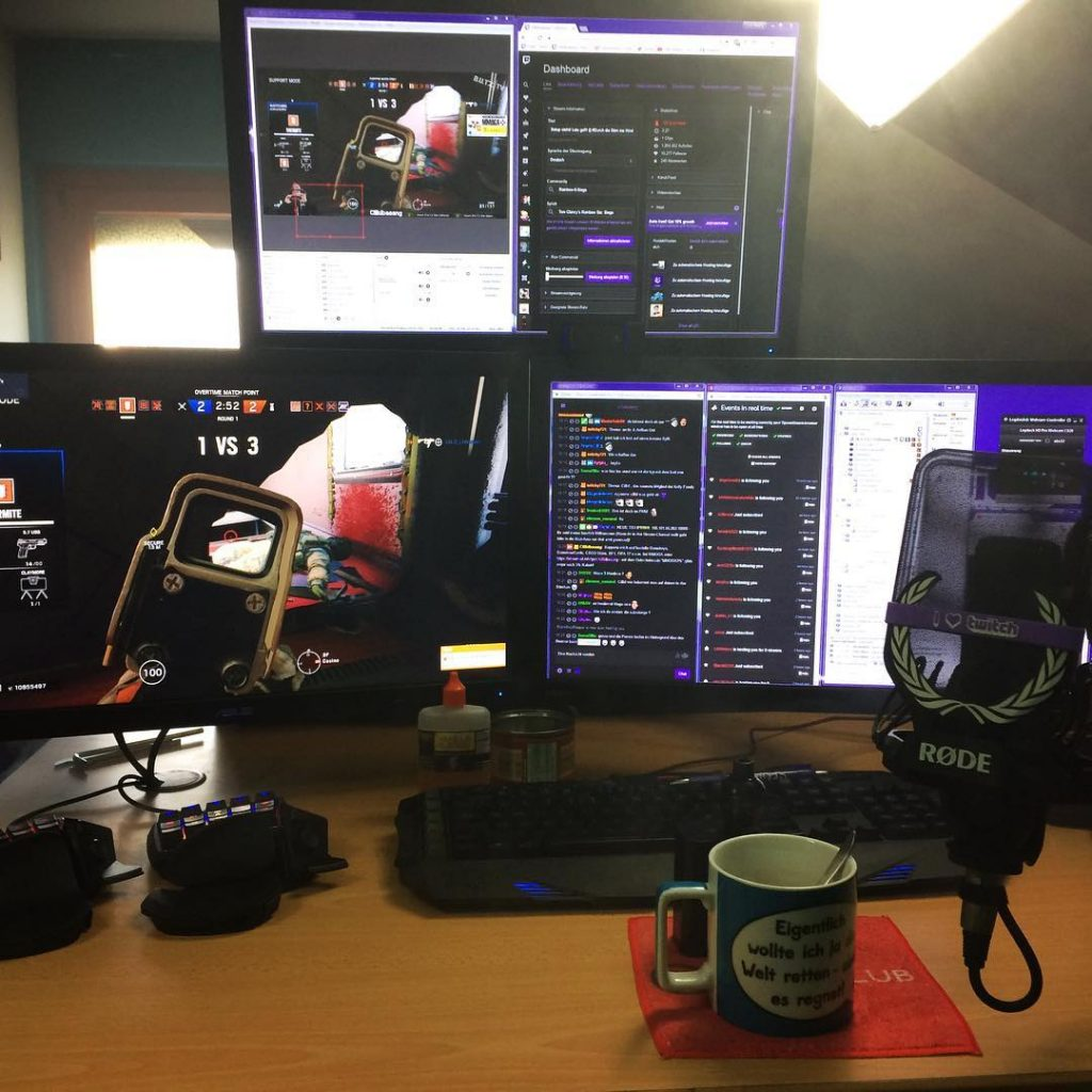 Twitch Stream Cillidbaaaang PC Setup beim Stream