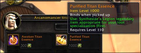 WoW Legendary Price Patch 735