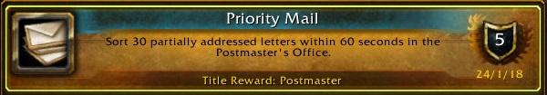 WoW Postmeister Achievement