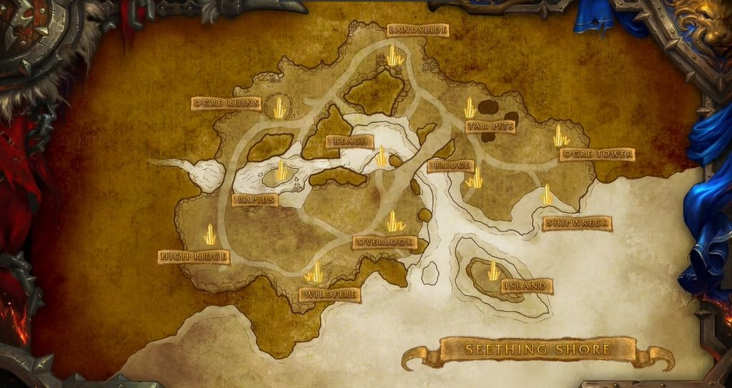 WoW Seething Shore Map