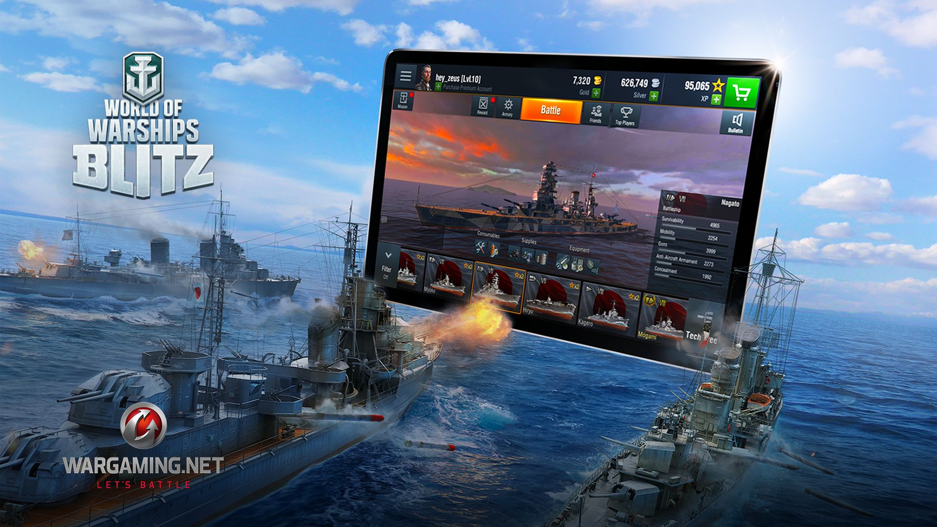 Das Schiffs-MMO World of Warships gibt's jetzt auch als Mobile-Game