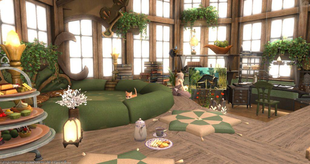 final fantasy xiv housing wintergarten kissen