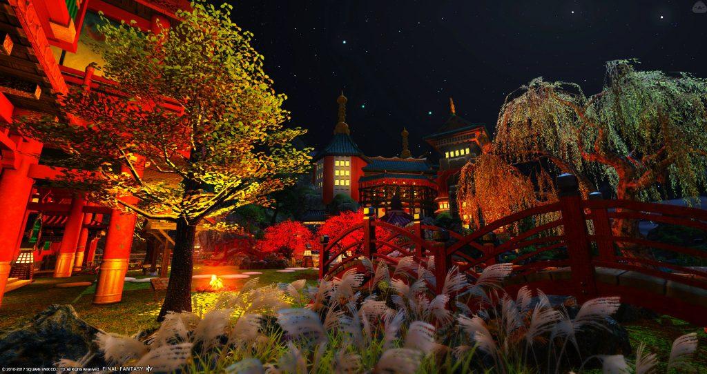 final fantasy xiv housing garten nacht