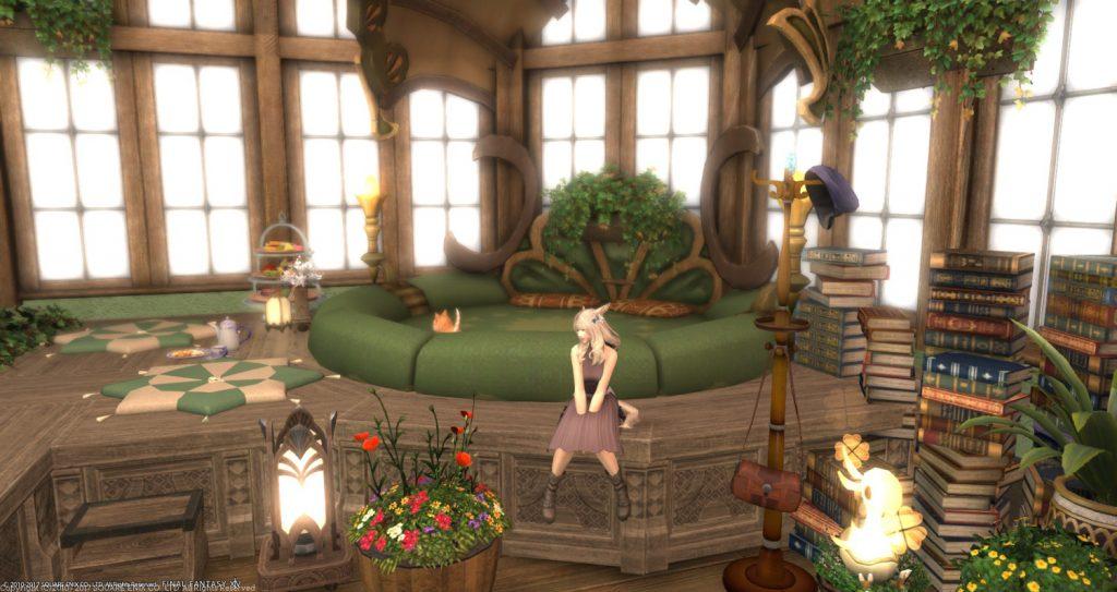 final fantasy xiv housing wintergarten bett
