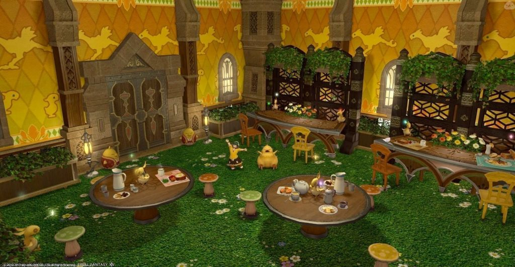 final fantasy xiv housing chocobo café