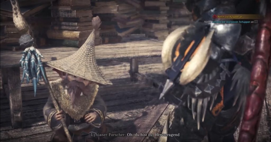 monster hunter world lynianer forscher