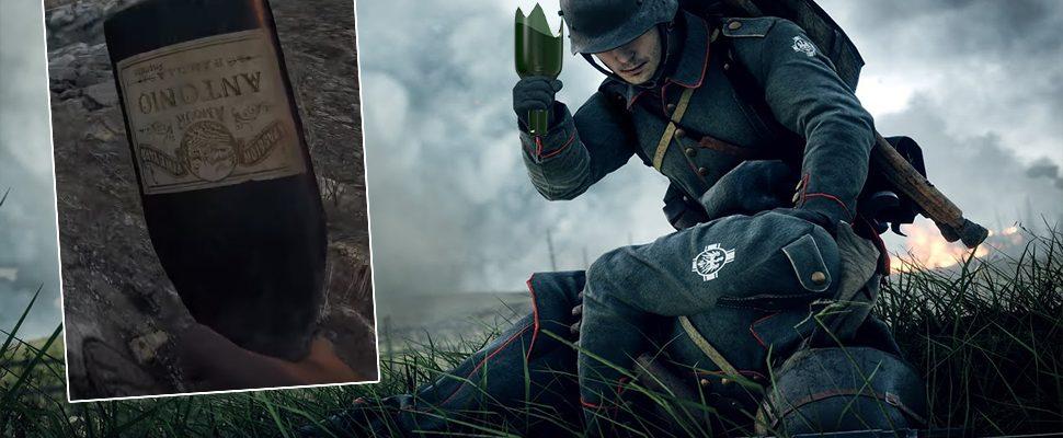 Battlefield 1: Kaputte Weinflasche – So schaltet Ihr die geheime Waffe frei