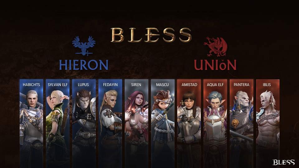Bless Rassen Hieron und Union