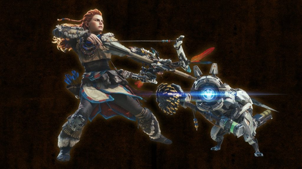 monster hunter world aloy rüstung waffe