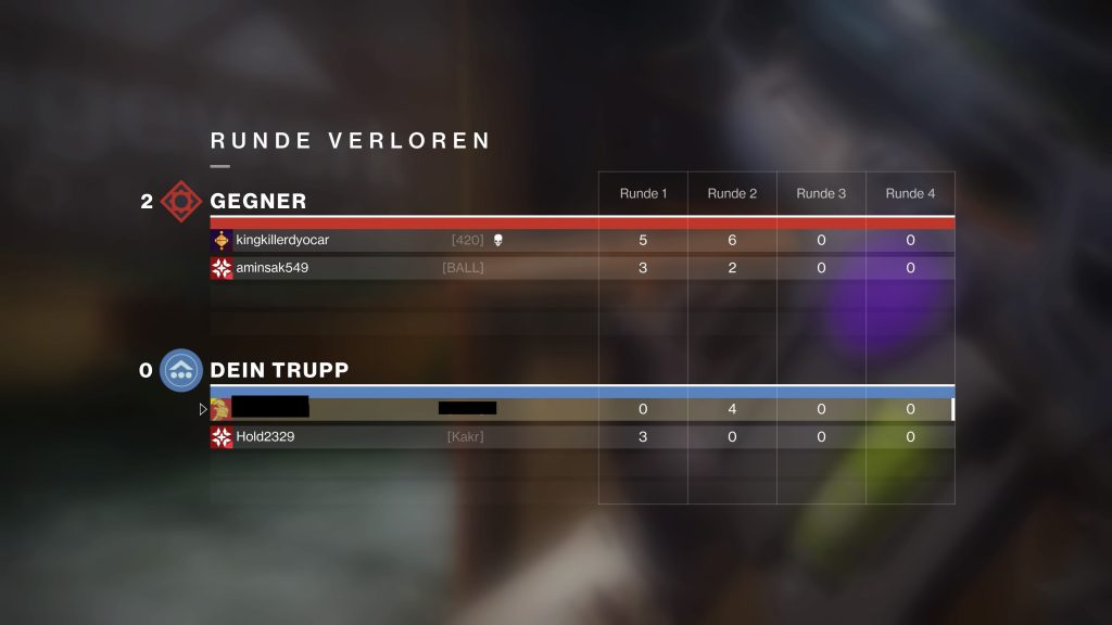 Destiny 2 Scharlach After match