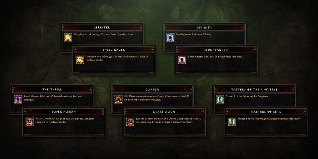 Diablo 3 Season 13 Achievements