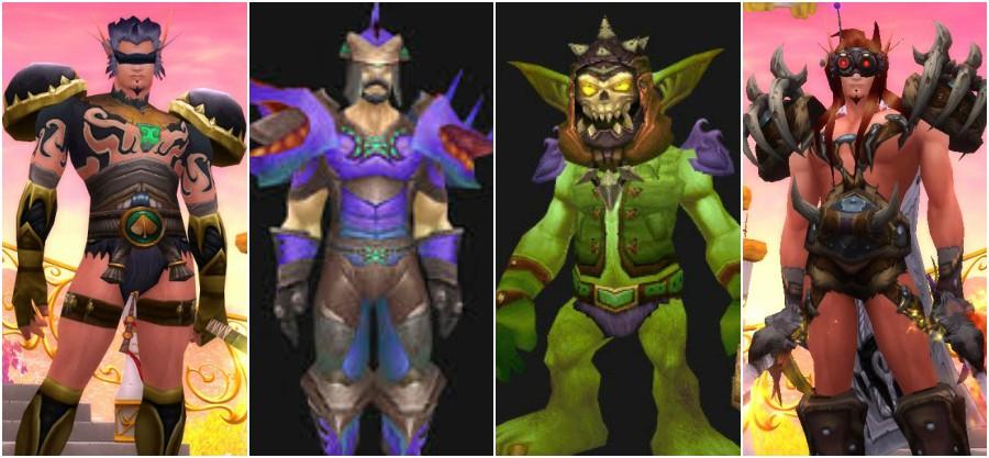 Hässliche Rüstungen Warcraft