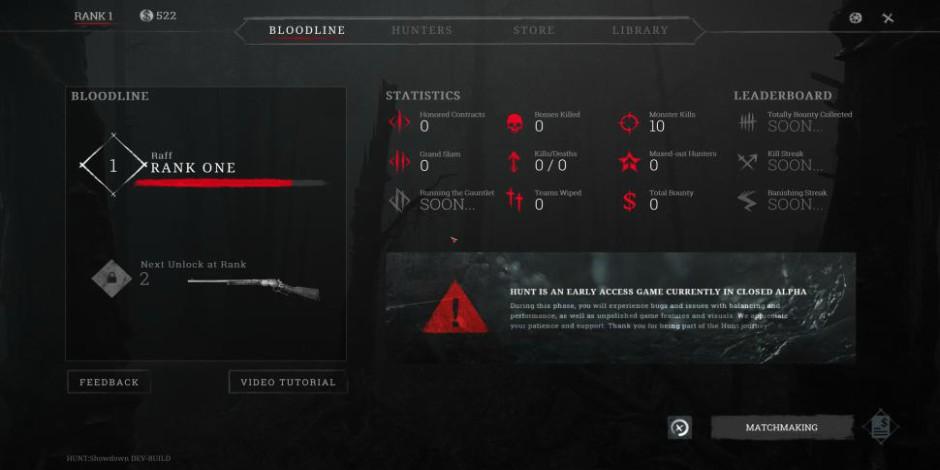 Hunt Showdown Rank 1