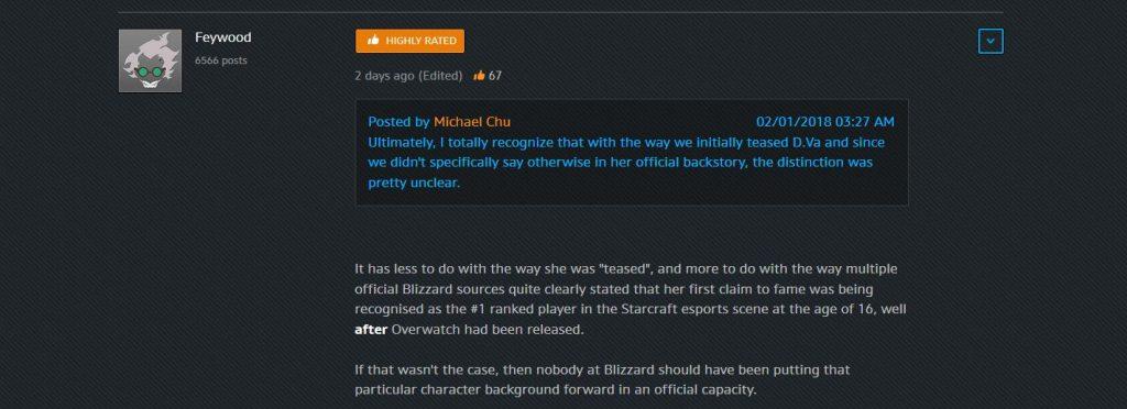 Overwatch D.Va not a starcraft Pro Blizazrd Foren Antwort von Feywood