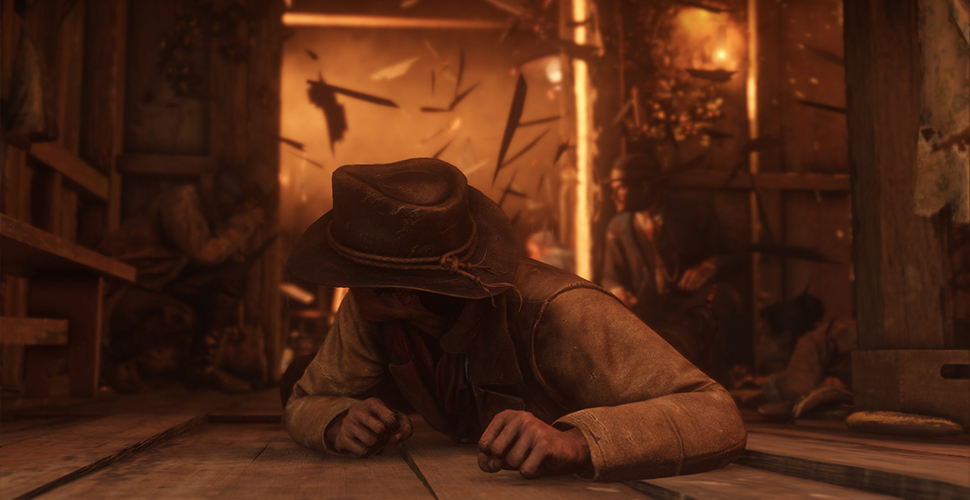 Red Dead Redemption 2 Titel explosion