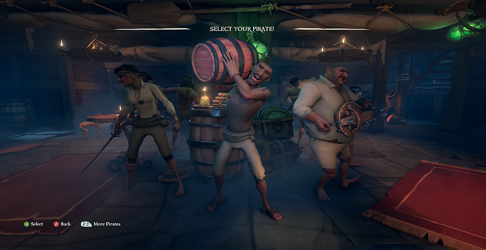 Sea of Thieves Charakterauswahl