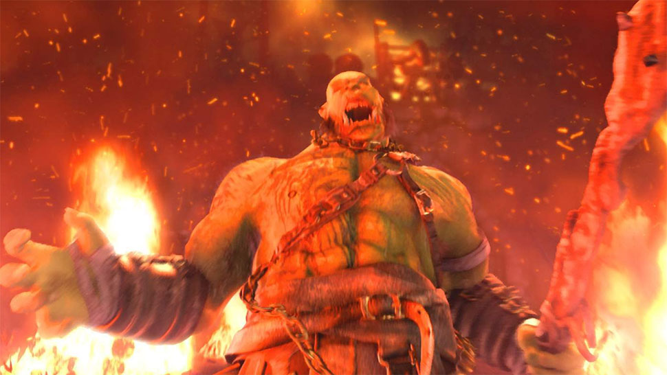 WOrld of Warcraft Movie Orc RAging Fire