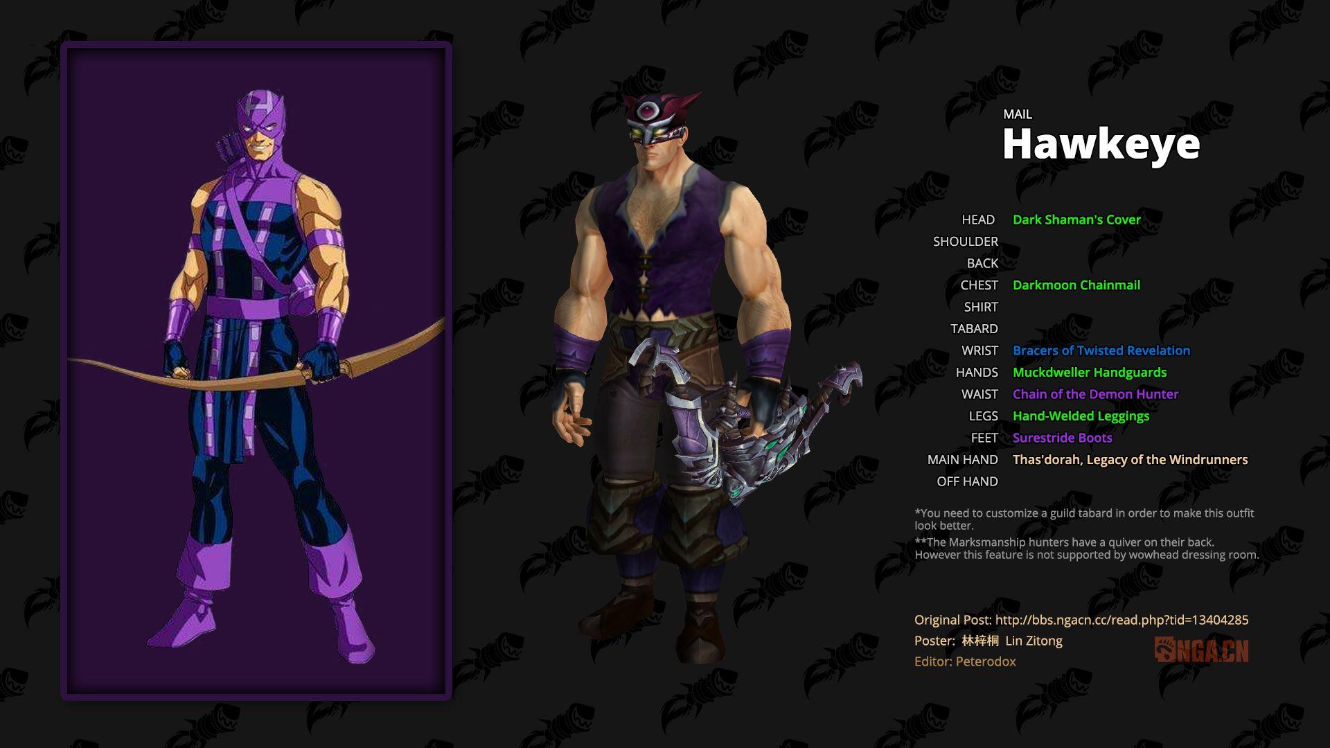 WoW Transmog Avengers Hawkeye