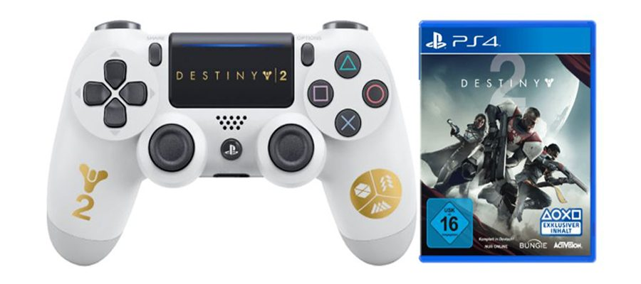 Spezieller Destiny 2 PS4-Controller im Bundle mit Destiny 2 – Angebote bei MediaMarkt