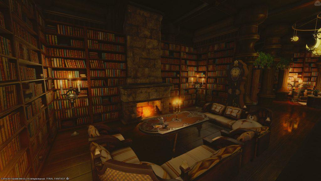 final fantasy xiv housing bibliothek ecke