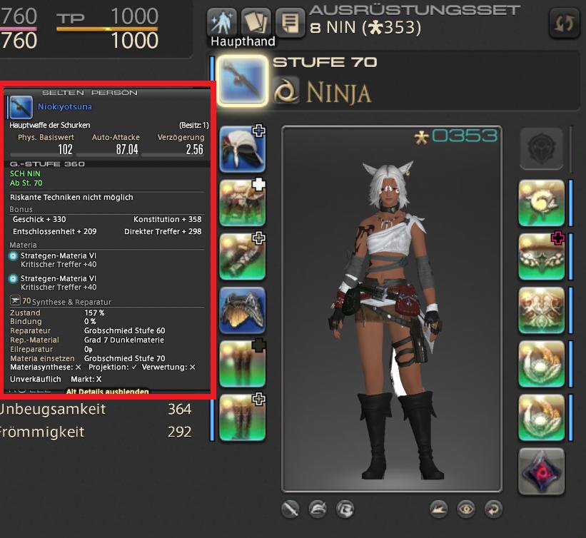 final fantasy xiv ninja waffe