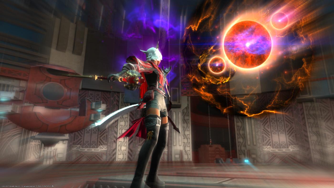 final fantasy xiv rotmagier flare