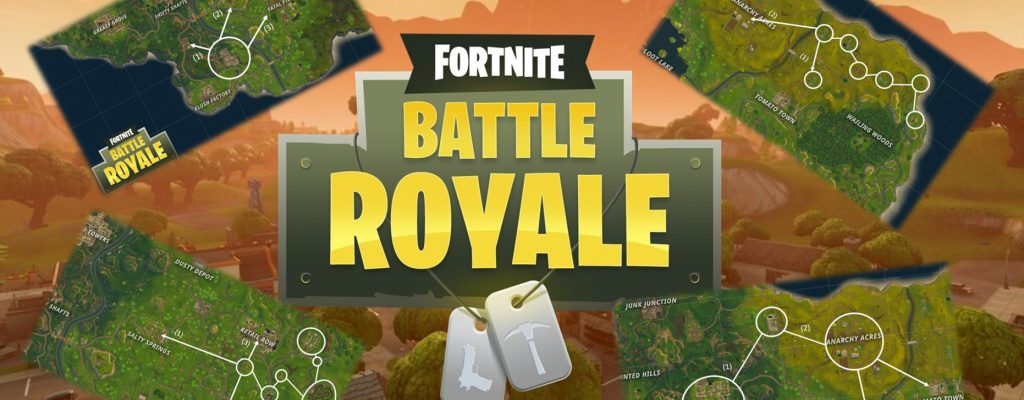 Nutze die Map! Die besten Loot-Routen in Fortnite: Battle Royale