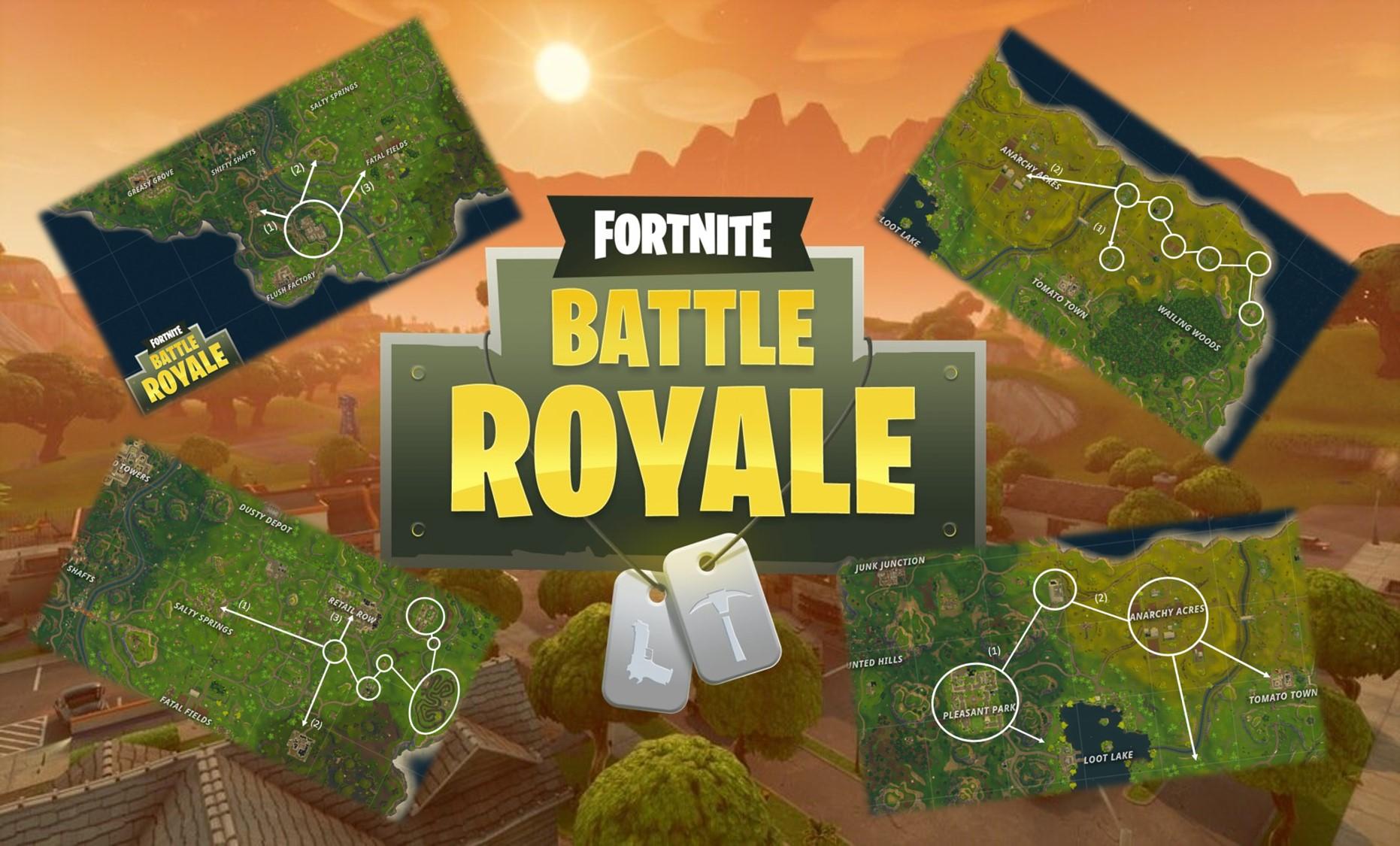 Nutze Die Map Die Besten Loot Routen In Fortnite Battle Royale