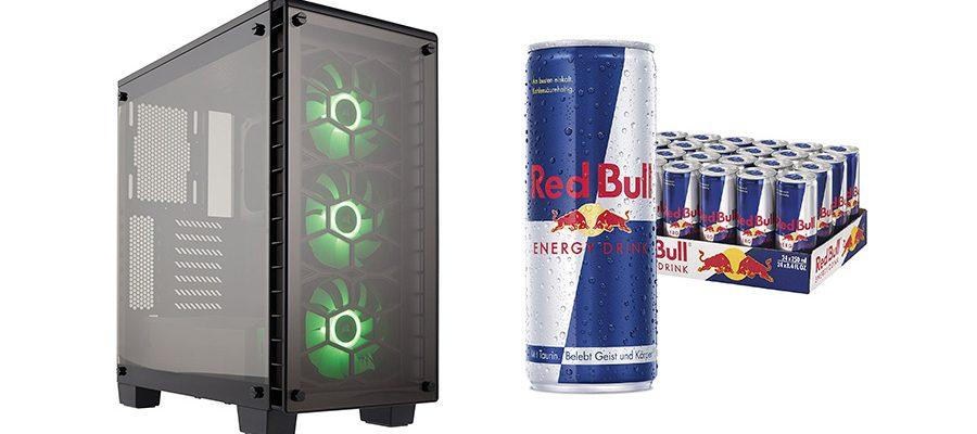 PC-Zubehör von Corsair und Red Bull-Getränke im Angebot bei Amazon