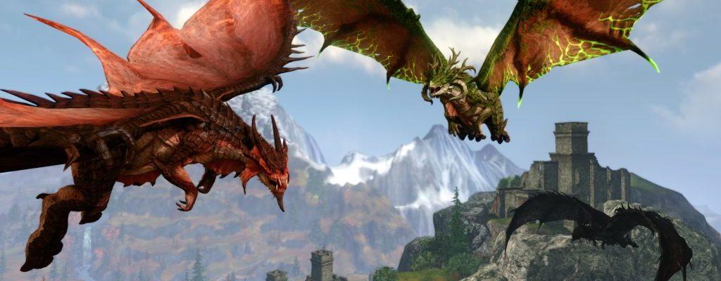 In ArcheAge zieht ihr einen Drachen auf und reitet auf ihm