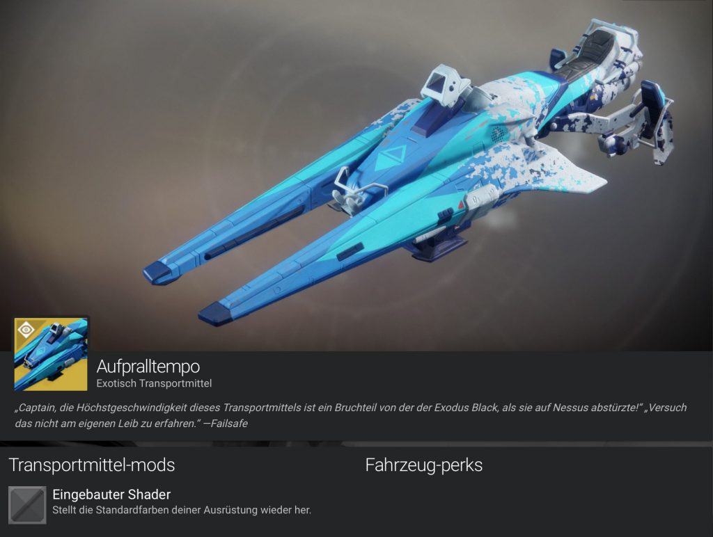 Destiny 2 Aufpralltempo 1