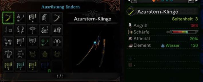 Azurstern-Klinge-Langschwert