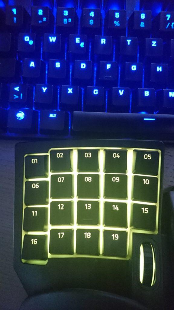 razer tartarus v2 vergleich tastatur layout