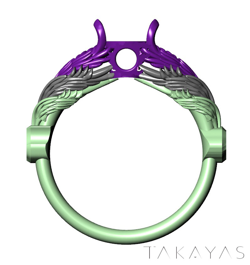 final fantasy xiv takayas Hraesvelgr ring 3d modell