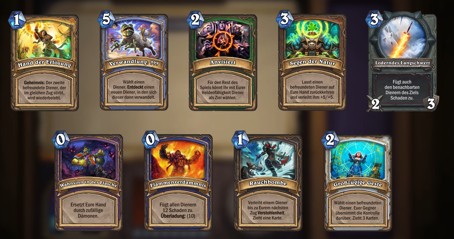 Hearthstone Arena only Cards