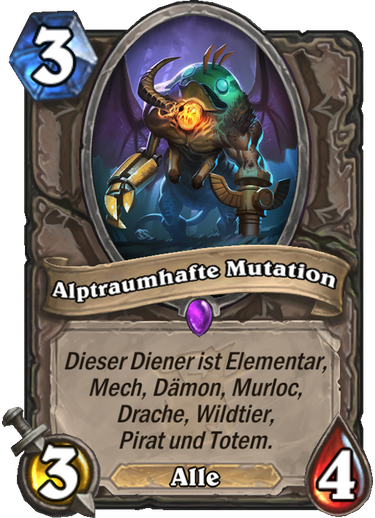Hearthstone Witchwood Alptraumhafte Mutation