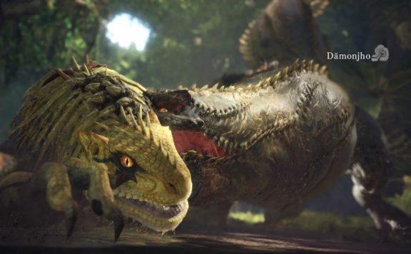 Monster-Hunter-World-Dämonjho-GroßJagras