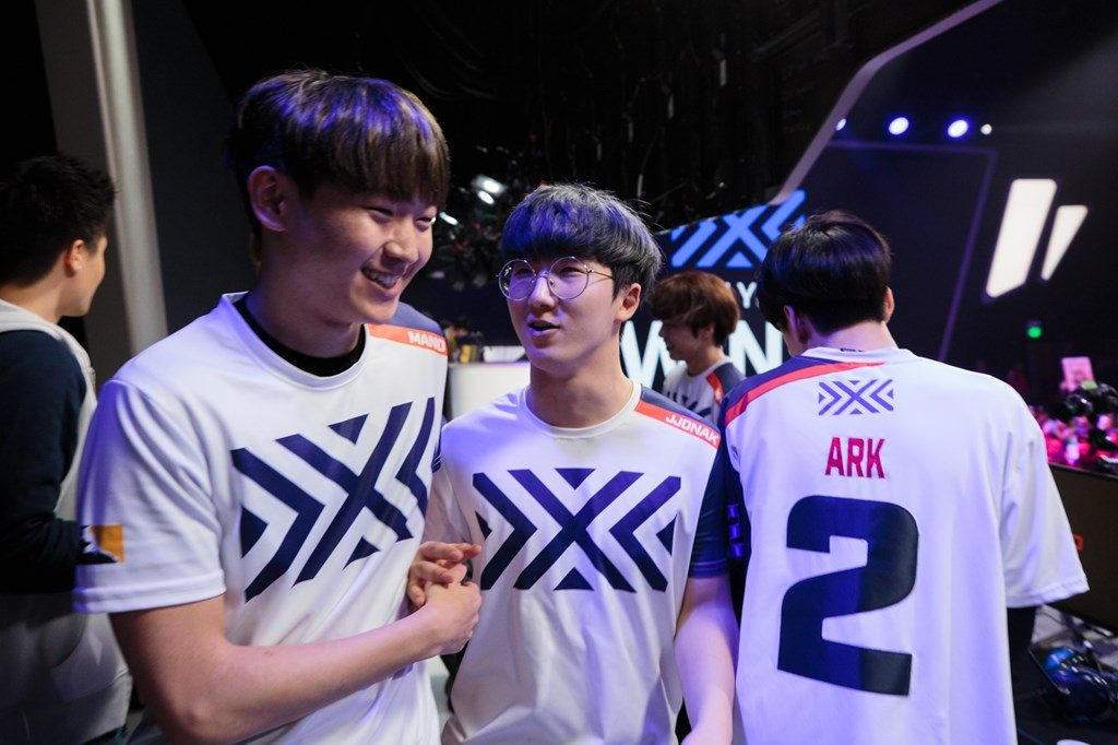Overwatch League New York Excelsior Jjonak, mano and Ark