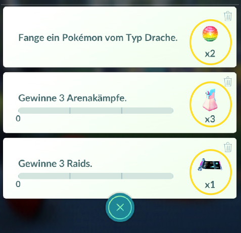 Pokémon GO Quests Belohnungen