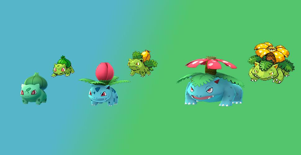 Pokémon GO Shiny Bisasam Familie