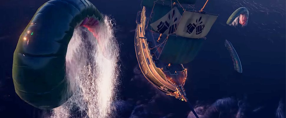 Seht hier den fiesesten Gegner von Sea of Thieves im Launch Trailer