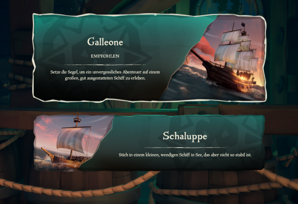 Sea of Thieves Schiffe