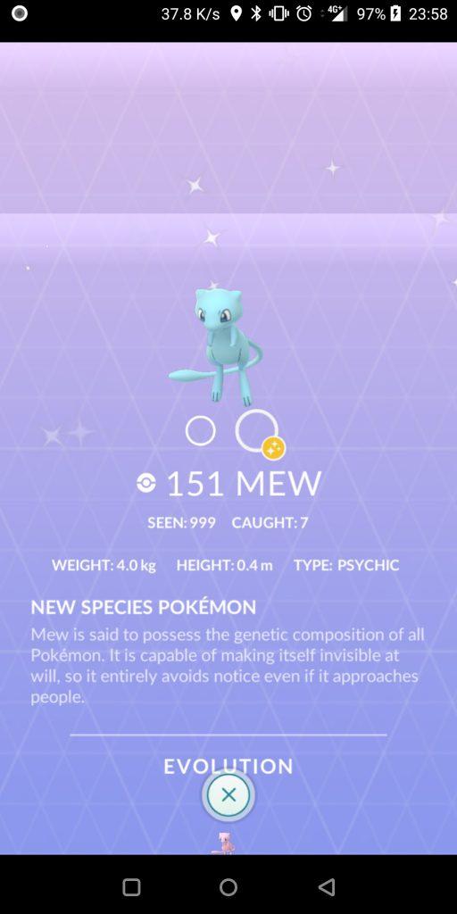 Pokémon GO Shiny Mew