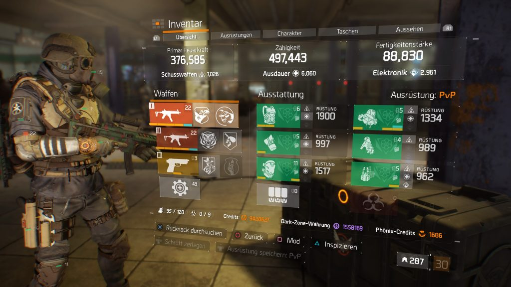the division 1 classified gear striker