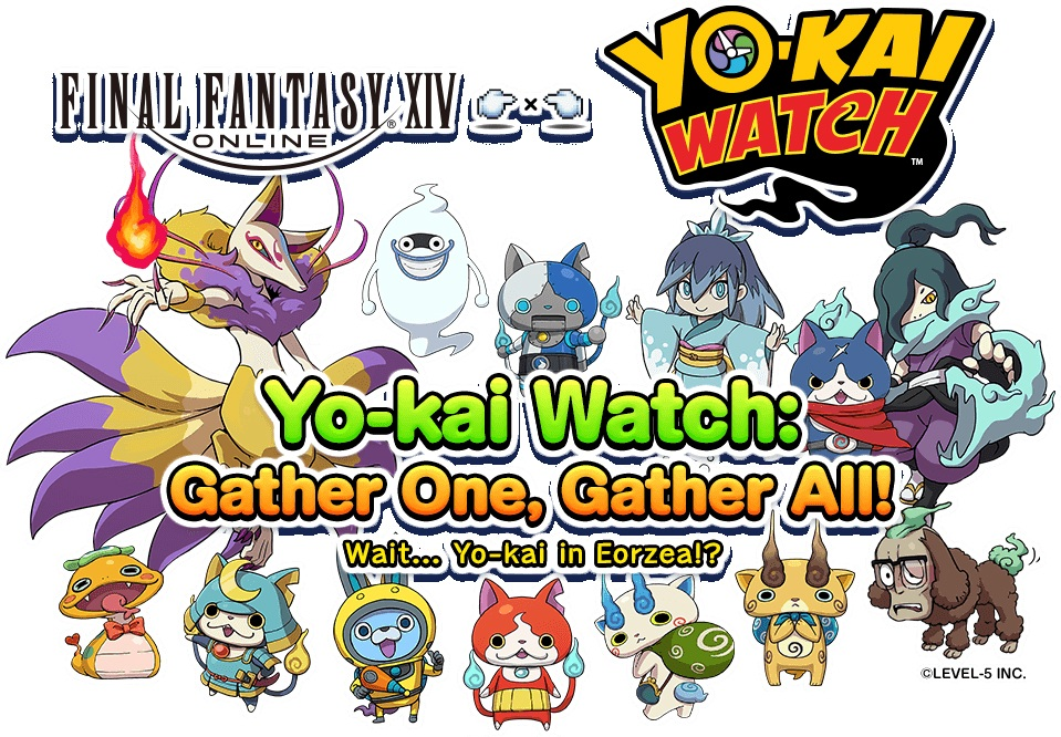 final fantasy xiv yokai watch kollaboration